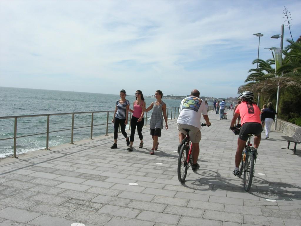 paredão estoril de bicicleta