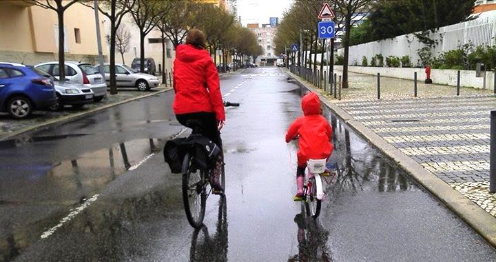Ciclistas a par