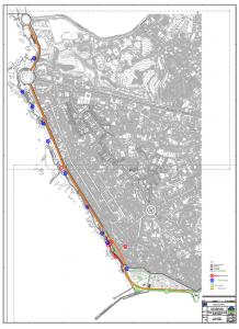 Excerto dos desenhos do plano. Fonte: Águas do Porto