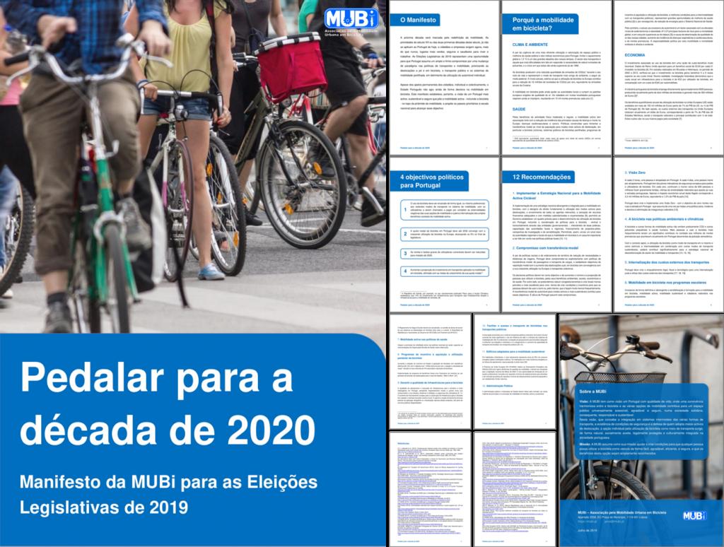 Pedalar para década de 2020: Manifesto da MUBi para as Eleições Legislativas de 2019